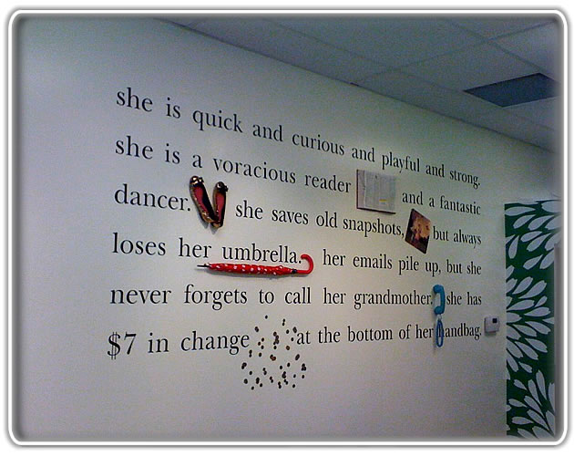 custom wall graphics installation